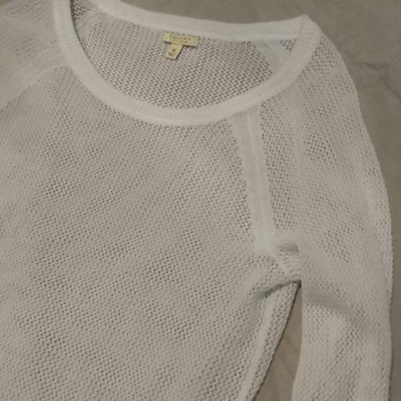 Sonoma sheer ocean blue loose knit sweater